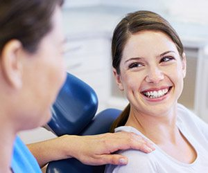 Portland Preventive Dentistry smiling woman in dental chair